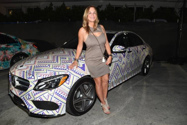 Monica Wise with Mercedes C-Class