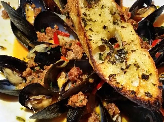 Mussels at Red, The Steakhouse