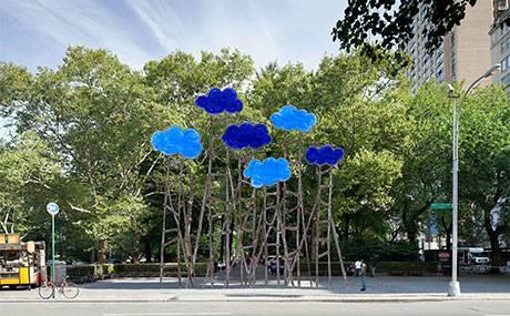 """""""Clouds"""" (2014), by Olaf Breuning. Courtesy, Public Art Fund"""