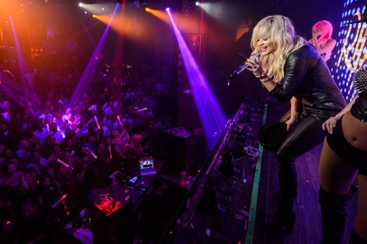 Rita Ora Performance at TAO Nightclub