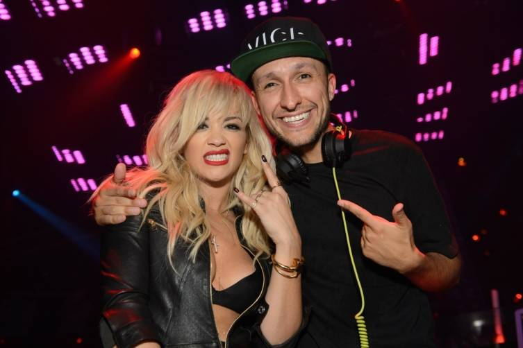 Rita Ora and DJ Vice at TAO Nightclub