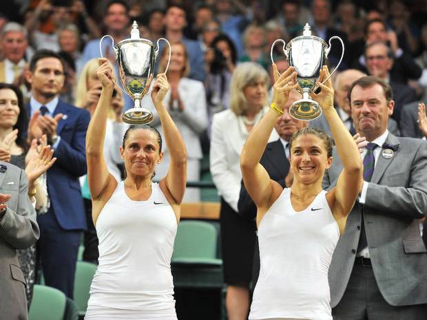 Sara Errani and Roberta Vinci won Woman's Doubles title.