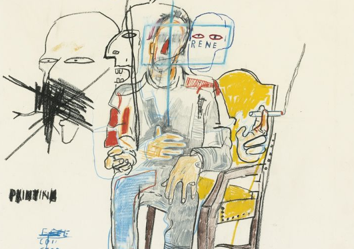 """Rene Ricard"" by Jean-Michel Basquiat, image via Sotheby's"