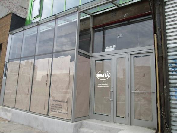 Newly opened Odetta Gallery, image via artinfo