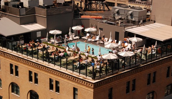 Soho House NYC roof, image via joonbug.com