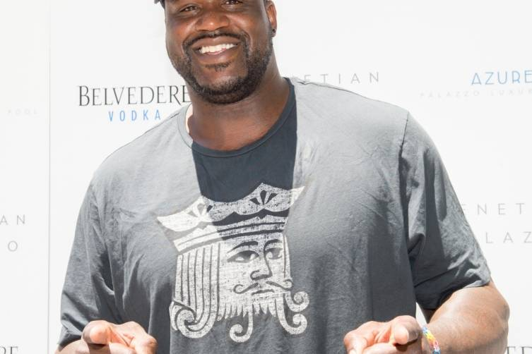 Shaq on the carpet at Azure Luxury Pool at The Palazzo Las Vegas