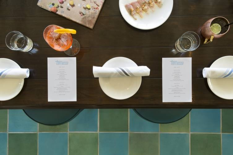 Terrazza Table and Tilework - Photo Credit Lisa Romerein
