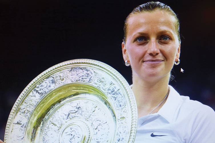 Petra Kvitova won the Women's Singles title