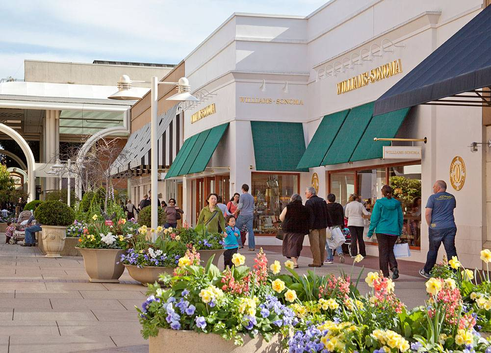 Stanford Shopping Center is an upscale open air shopping mall located on Route 82 (El Camino Real) at Sand Hill Road in Palo Alto, California. It is on the campus of Stanford University although the university only owns the land and not the actual buildings or stores.