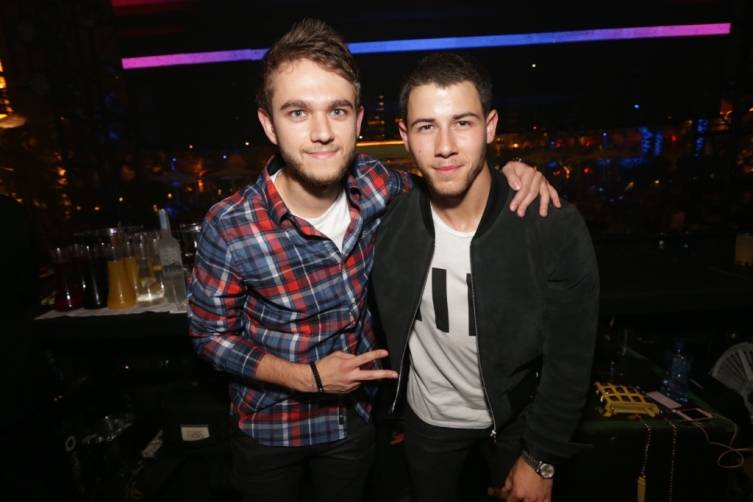 Zedd and Nick Jonas. Photo: Danny Mahoney/XS Las Vegas