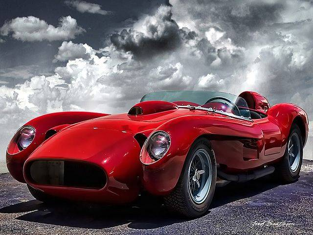 1957 F12 Testo Rossa, an influenced on the design of the F12 TRS. Image via carp0n.tumblr.com