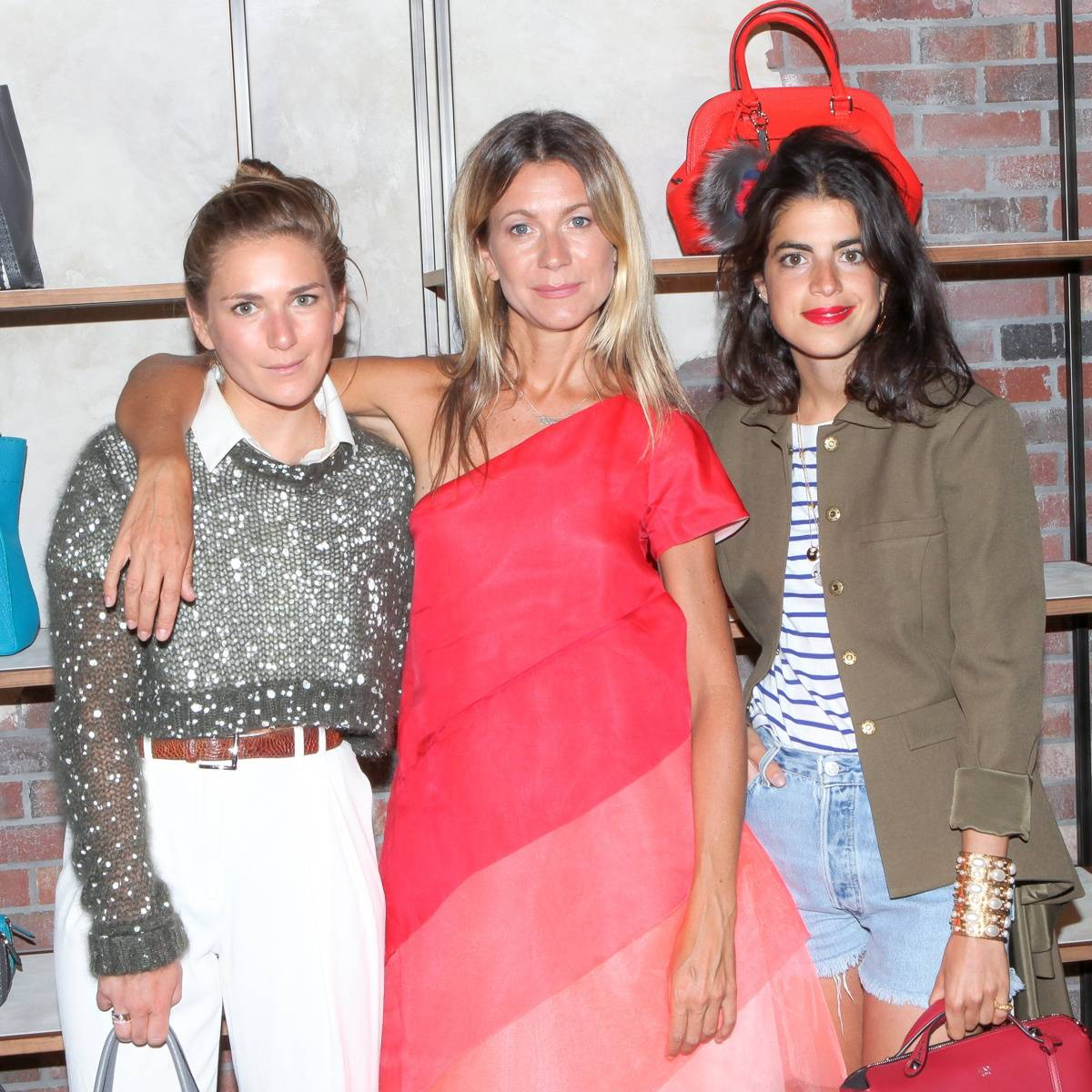 Claire Distenfeld, Natalie Joos, and Leandra Medine. Photo by Billy Farrell