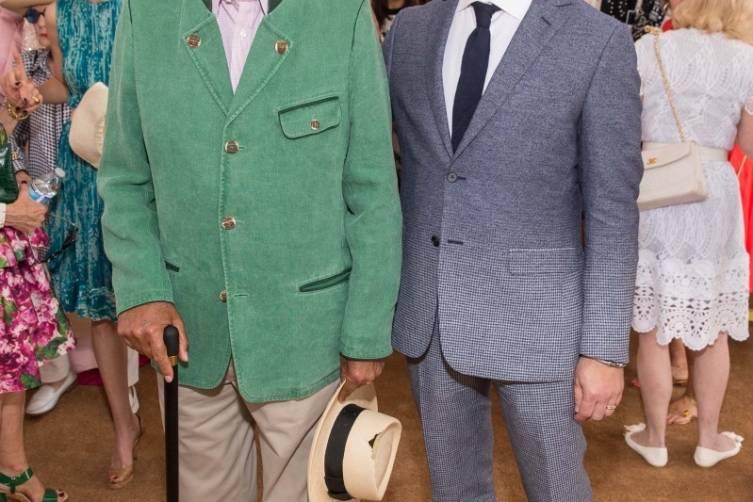 Oscar de la Renta and Robert Arnold-Kraft