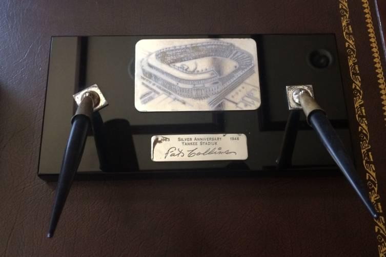 Yankee Stadium 25th anniversary desk set