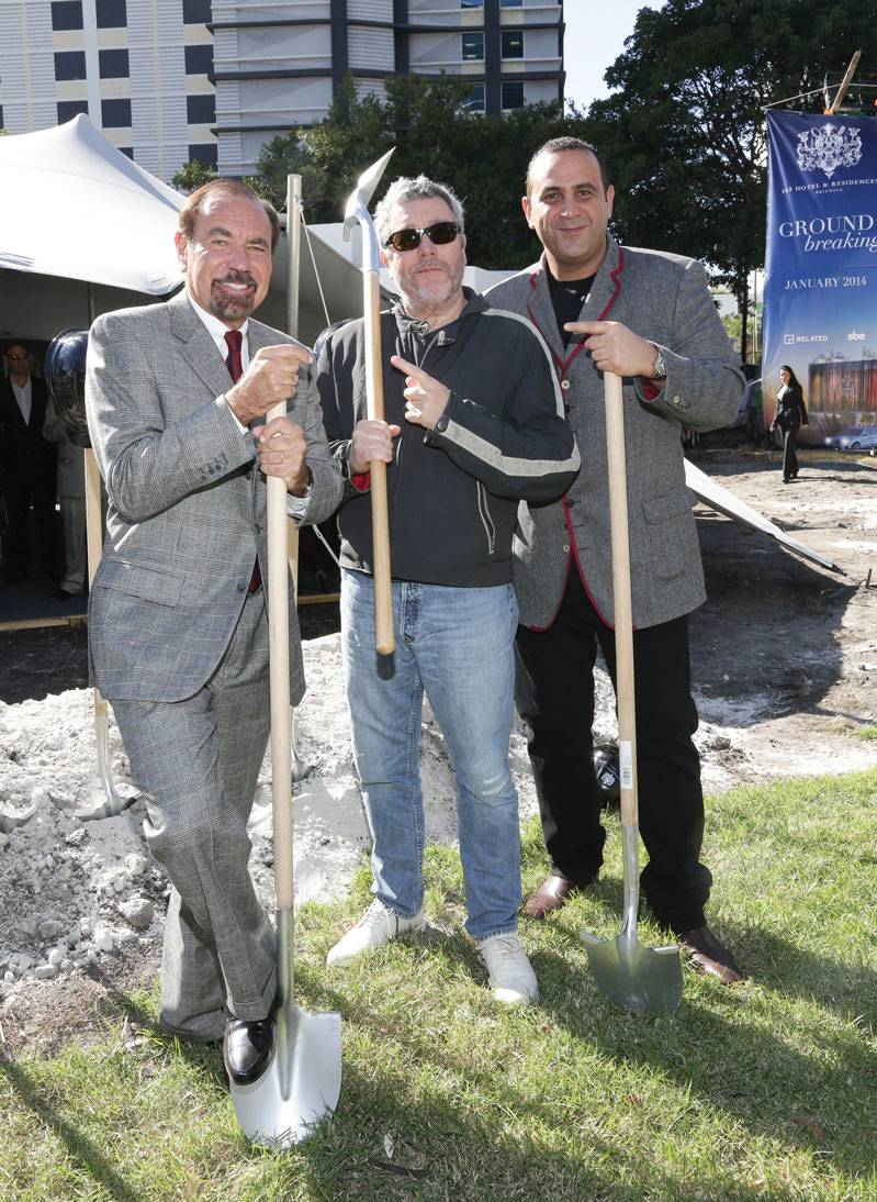 Jorge Perez, Philippe Starck and Sam Nazarian
