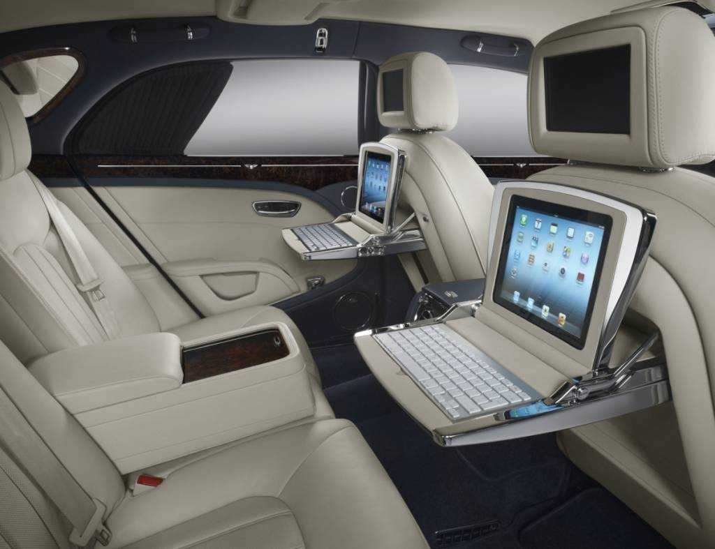 Inside the Bentley Mulsanne  Photo courtesy of Bentley Motors