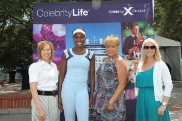 Venus Williams and Celebrity Cruise Team