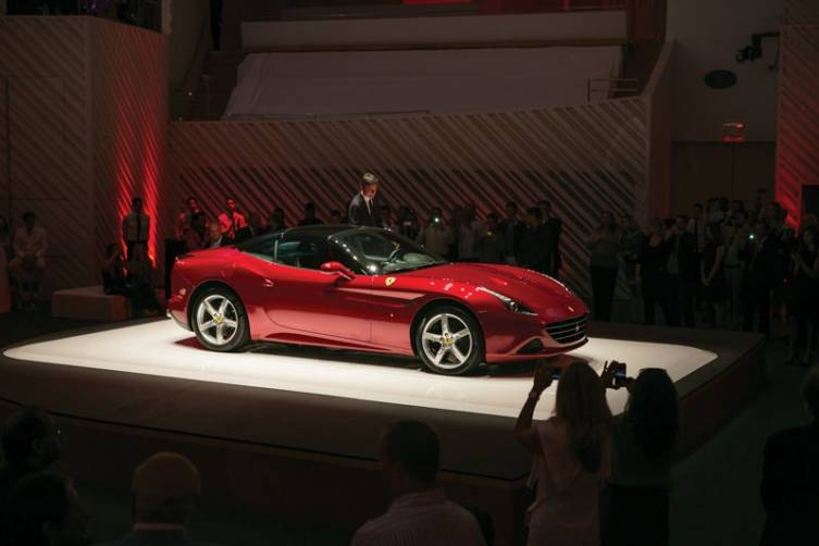 The new Ferrari California T takes center stage