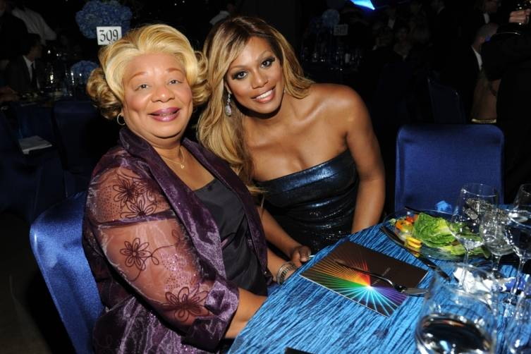 Laverne Cox and Gloria Cox
