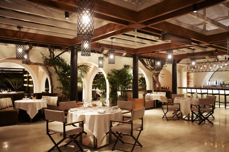 Wolfgang Puck at Hotel Bel Air outdoor dining room