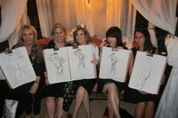 "Lea Black, Shelley Fariello, Cindy Cowan, Alexis Woodall and Jehan at ""Art Night at Cindy's"""