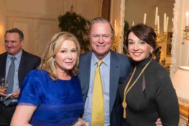 Kathy Hilton, Richard Hilton and Elisa Stephens