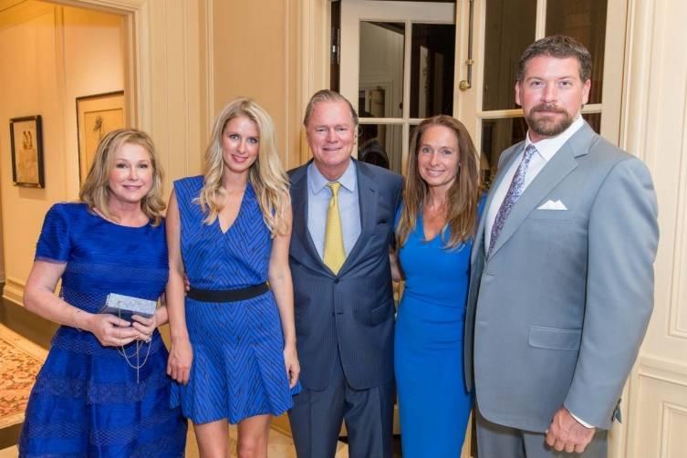 Kathy Hilton, Nicky Hilton, Richard Hilton, Elisabeth Thieriot and Peter Lago