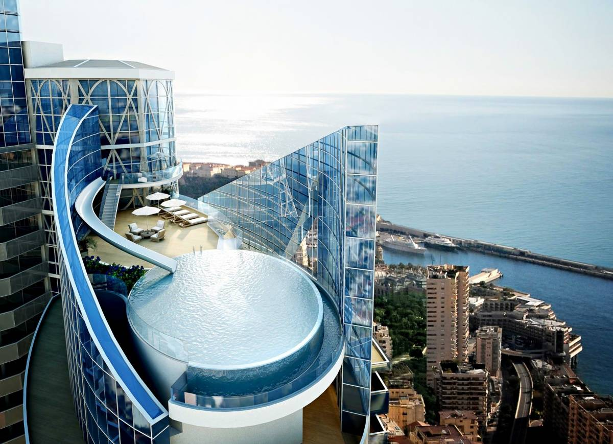 Sky Tour Odeon Tower Monaco Penthouse on Beach Style House Design