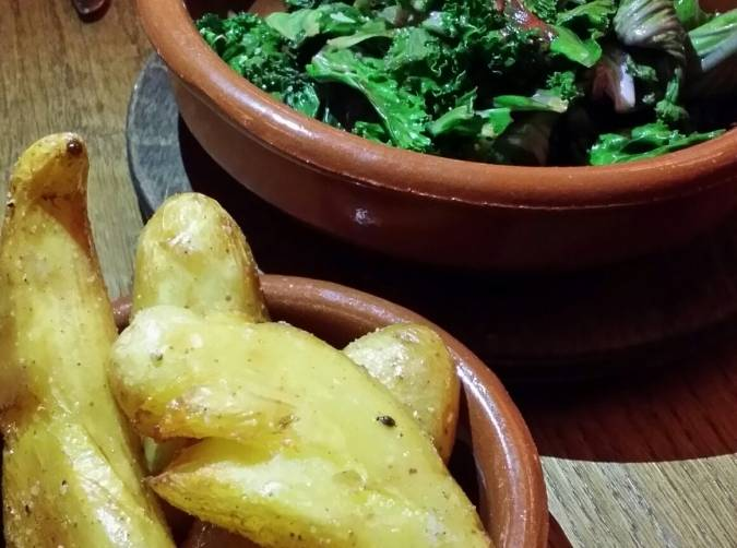 Roasted Fingerling Potatoes and Greens