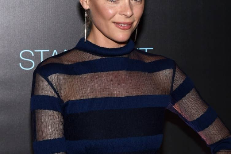 Actress and event host Jaime King arrives on the red carpet at Delano Las Vegas' Grand Opening Party, 9.18.14