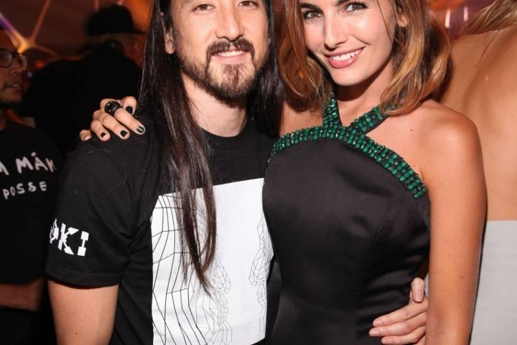 Camilla Belle and Steve Aoki_Hakkasan LV Nightclub