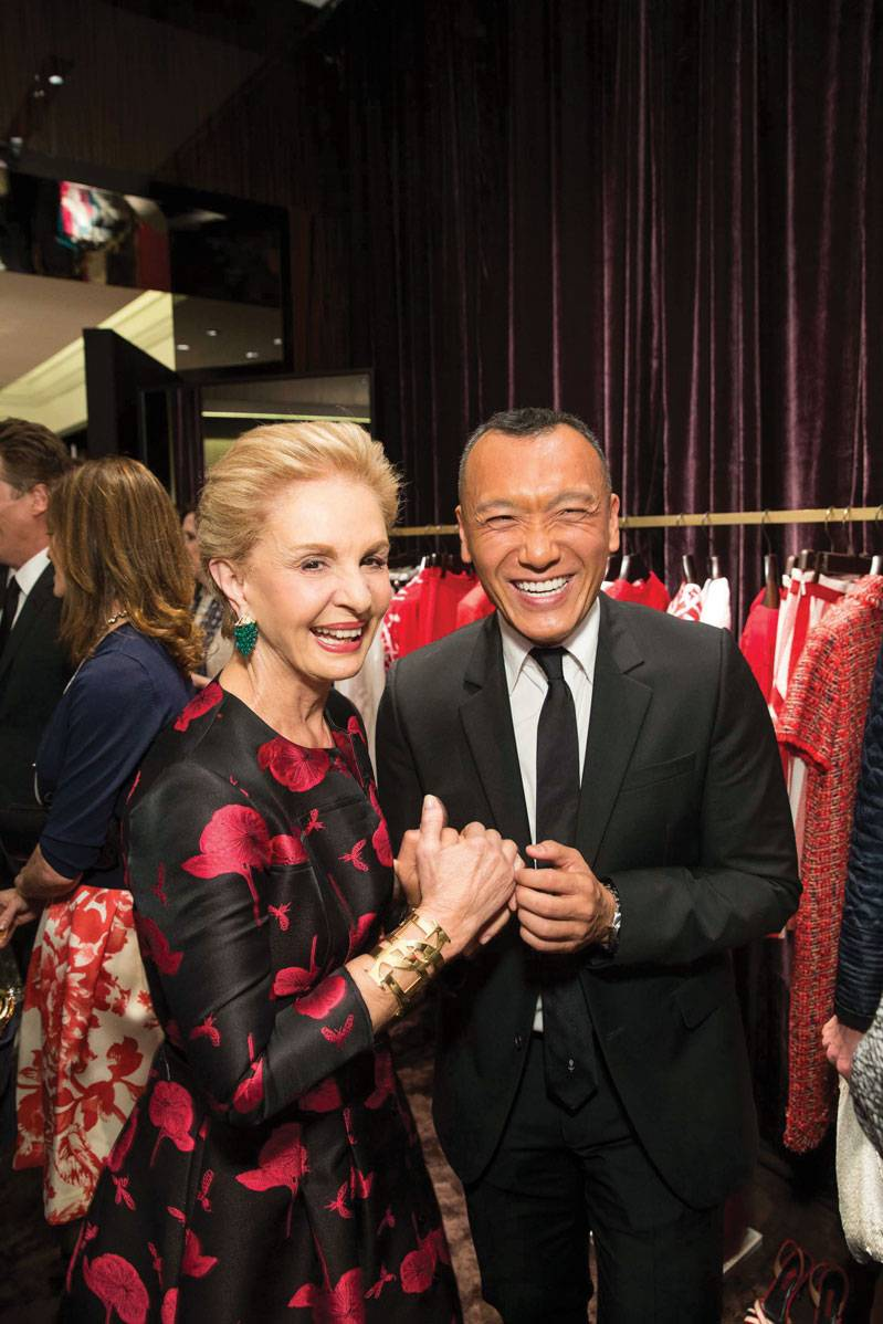 Carolina Herrera and Joe Zee at CH Carolina Herrera opening in San Francisco