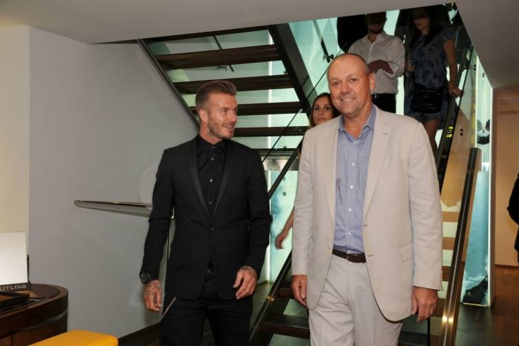 David Beckham and Thierry Prissert