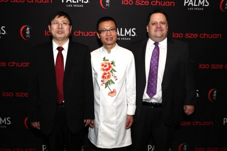 Deputy Consul General of China Song Ruan - Chef Tony Hu and Palms President Todd Greenberg
