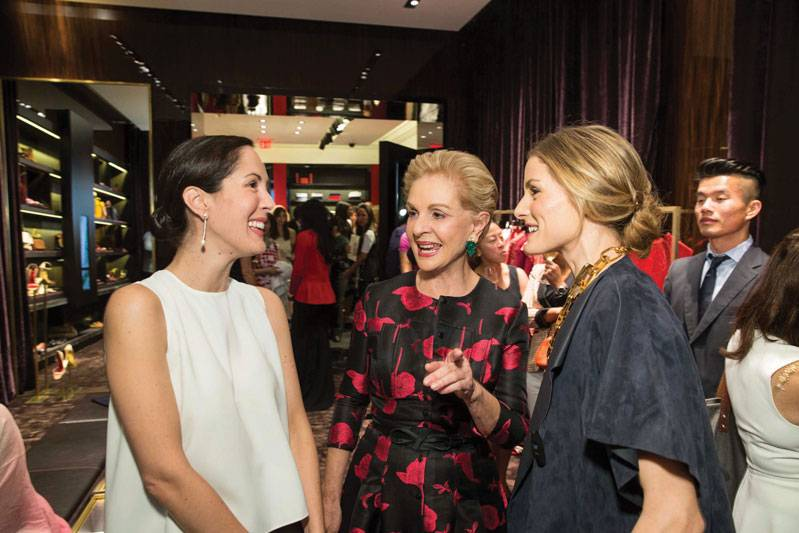Patricia Herrera Lansing, Carolina Herrera and Olivia Palermo at opening of CH Carolina Herrera in San Francisco