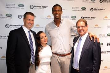 Eric Day, Adrienne & Chris Bosh, & Warren Henry