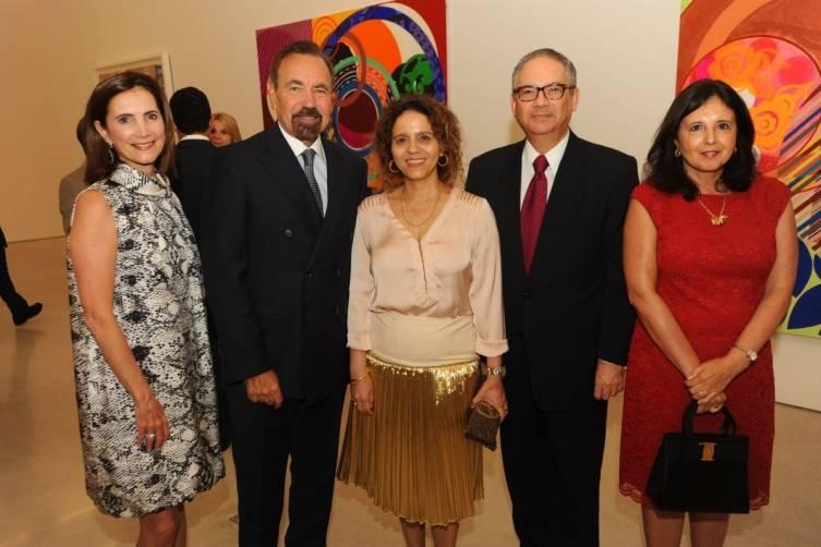 Frances Sevilla-Sacasa, Jorge M. Perez, Beatriz Milhazes, Helio & Milma Ramos at