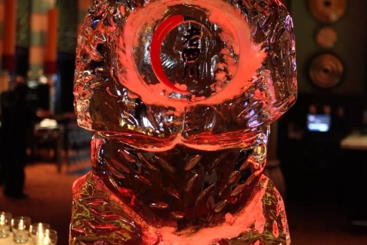 Ice sculpture at Lao Sze Chuan