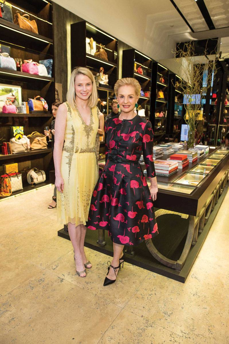 Marissa Mayer and Carolina Herrera at CH Carolina Herrera opening in San Francisco
