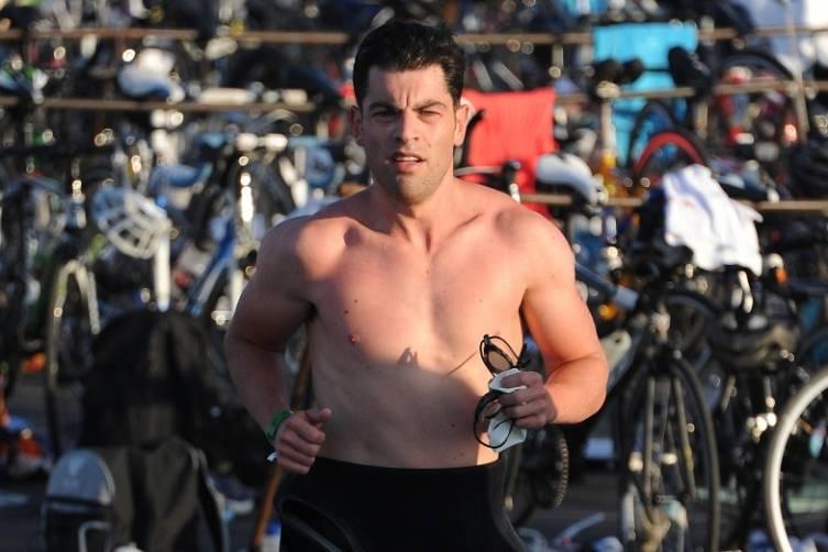 Max Greenfield swim finish