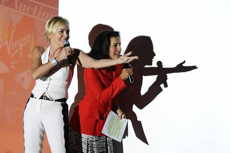 Sharon Stone and Andrea Fiuczynski