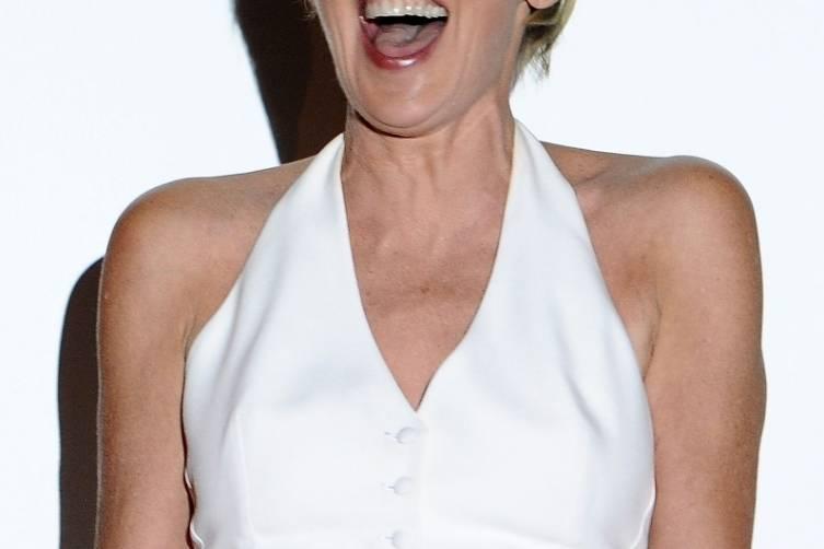 Sharon Stone laughing