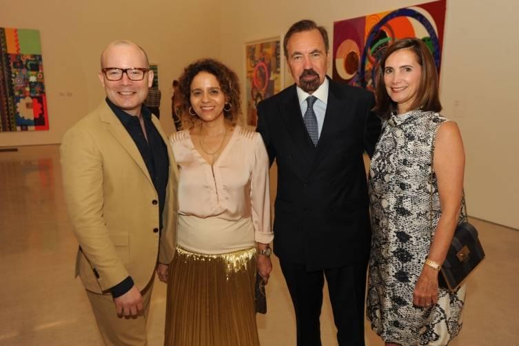 Thom Collins, Beatriz Milhazes, Jorge M. Perez & Frances Sevilla-Sacasa.