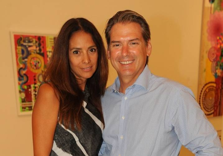 Valentina & Jeff Gutchess at PAMM's celebration of Beatriz Milhazes: Jardim Botânico