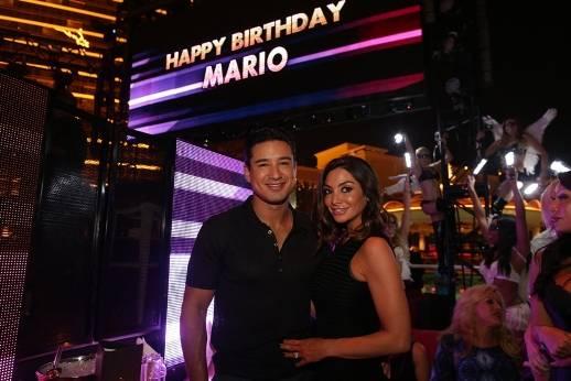 10.03.14 Mario Lopez and wife Courtney at XS nightclub