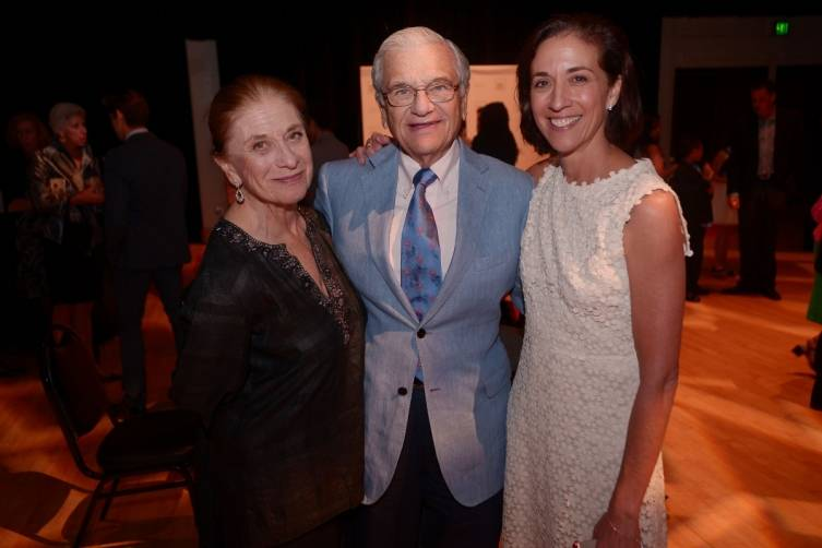 Adrianne Cohen, Jerry Cohen, & MCB Artistic Director Lourdes Lopez at the Private Artist's Circle Party, Opening NIgh
