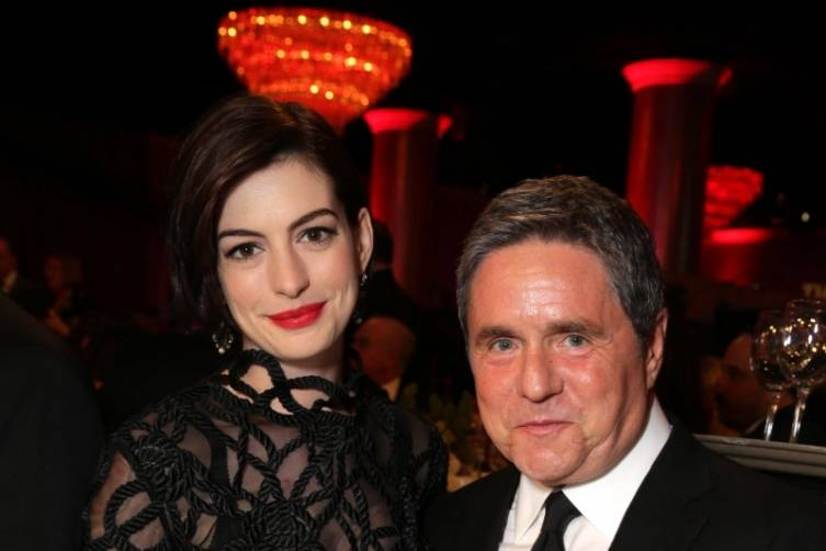 Anne Hathway and Brad Grey