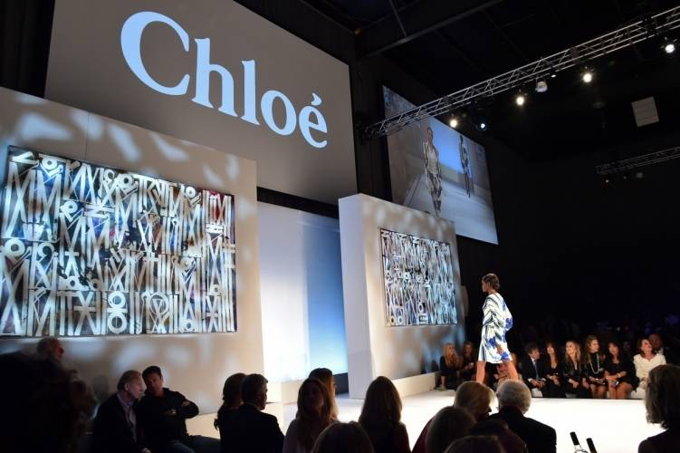 Chloe Pink Party fashion show