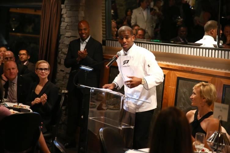 Chris Paul giving a speech
