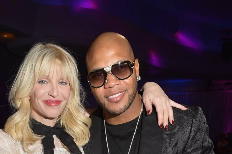Courtney Love and Flo Rida